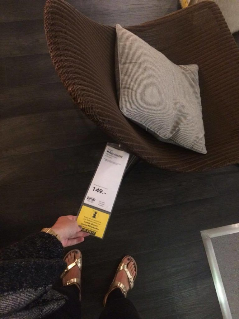Korbsessel von IKEA